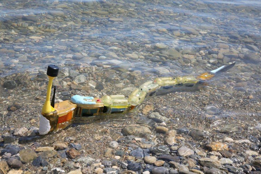 Roboti gjarpër gjen burimin e ujit të ndotur