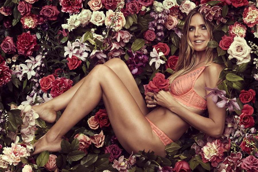 Heidi Klum sensuale  promovon linjën e saj të të brendshmeve
