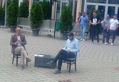 Dehari dha raport në sheshin e qytetit në Kërçovë