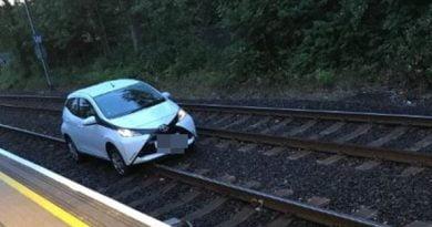 E moshuara nget makinën nëpër hekurudhë