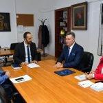 Aziri u takua me koordinatorin nacional për kulturë, rini dhe sport të Kosovës, Rexhep Hoti