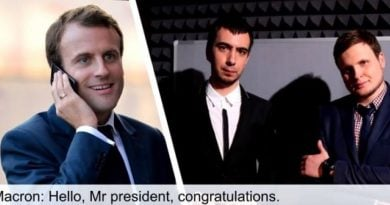 Edhe Macroni si Haradinaj, pre e humoristëve rusë