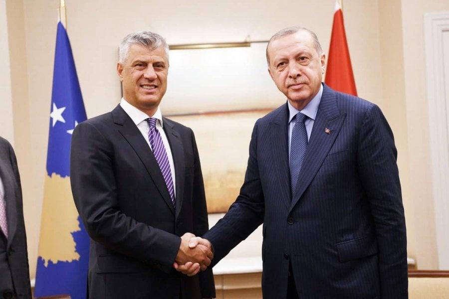 Thaçi falënderon Erdoganin për ndihmat nga Turqia